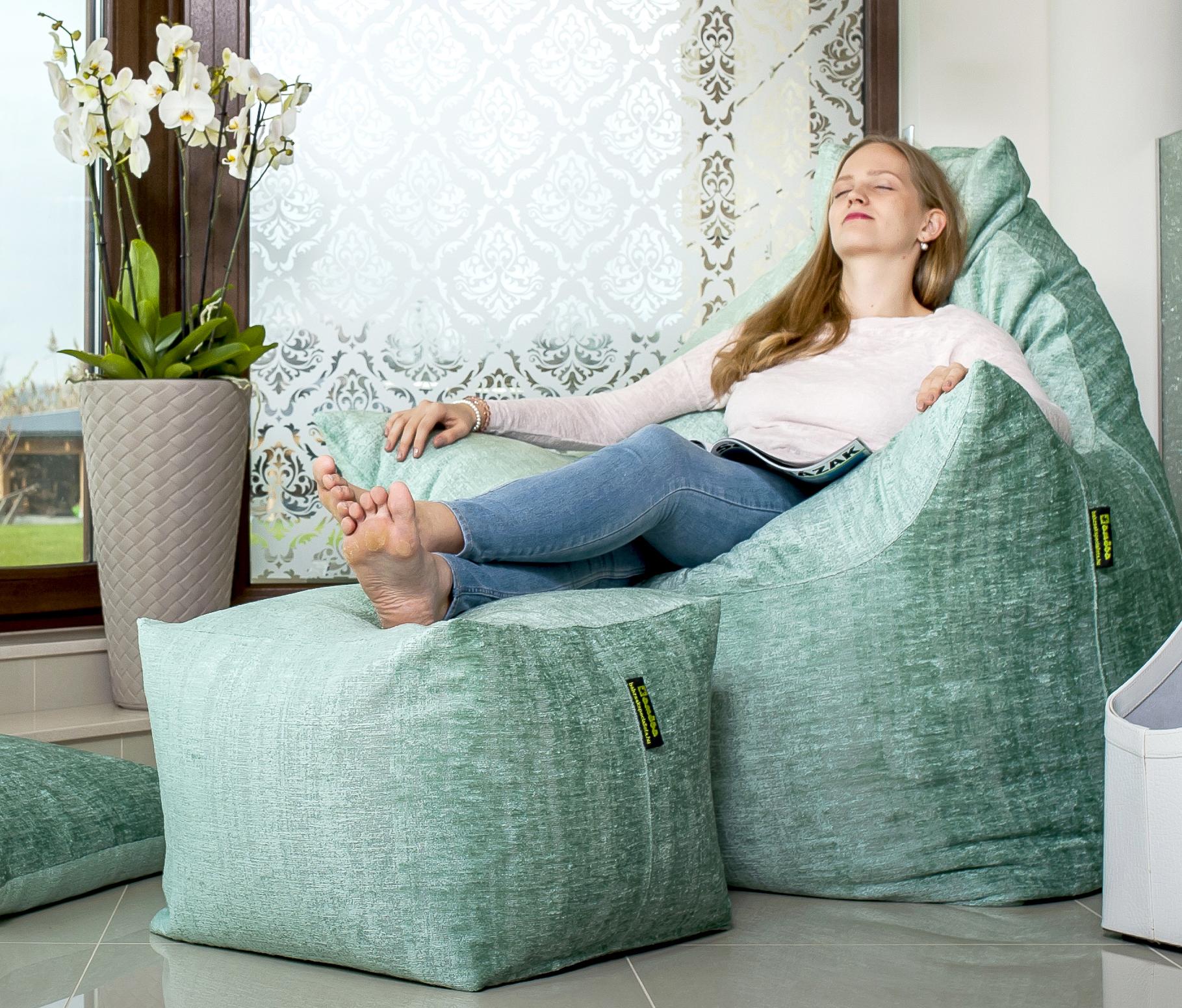 Trapéz solo relax fotel lábtartóval