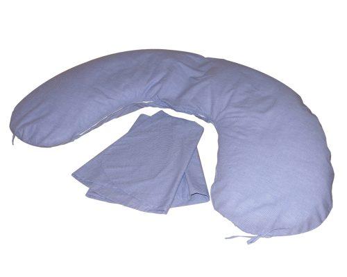 Amőba iker szoptatós párna (kék apró kockás)