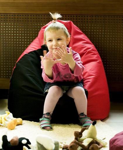 Hagyma babzsákfotel gyerekeknek