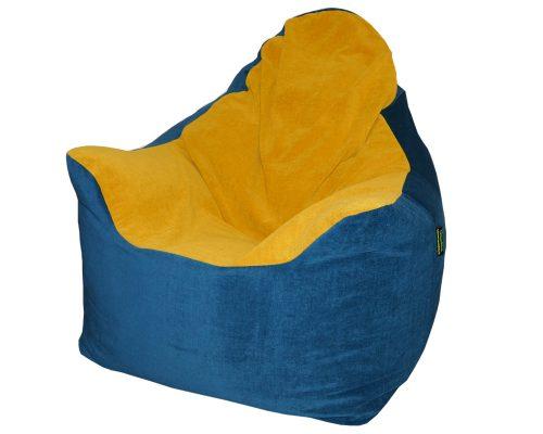 Kis summo babzsákfotel (kék-okkersárga) készleten
