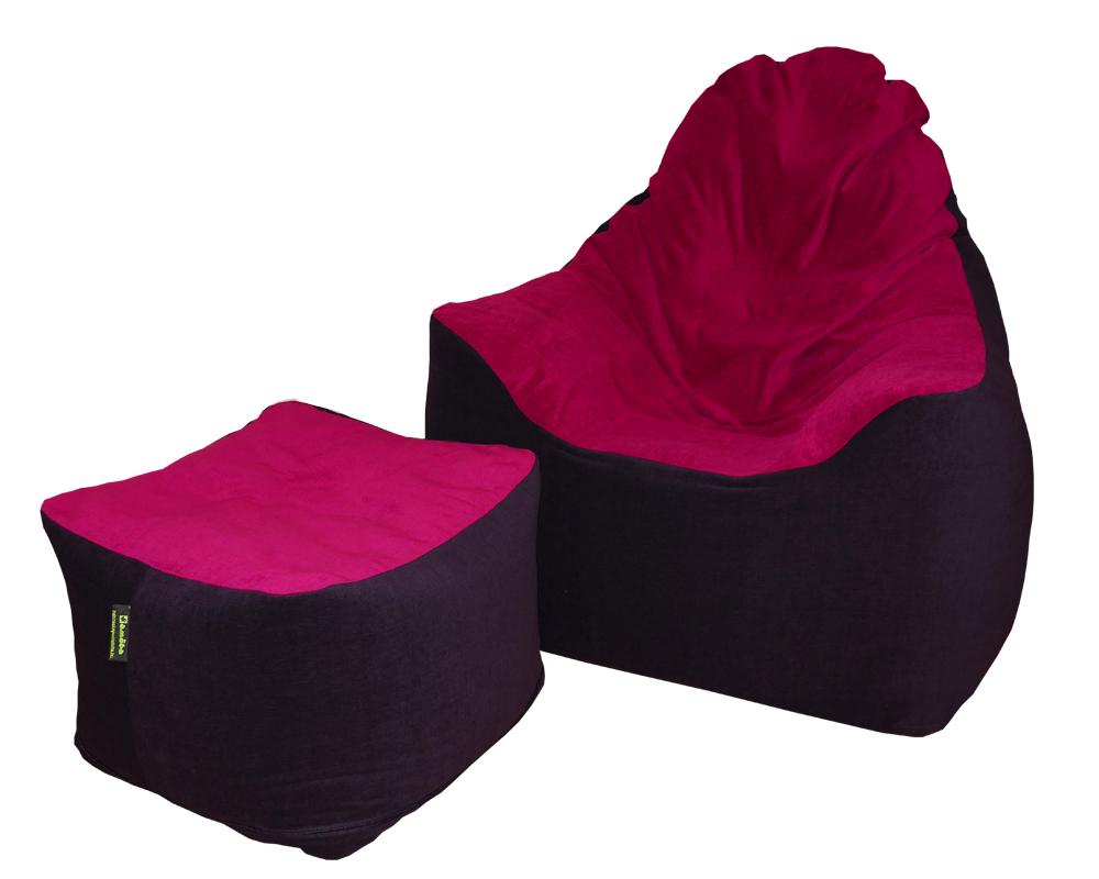 Solo max karfás babzsákfotel, Baby lux babzsákpuff (lila-ciklámen) raktárkészleten
