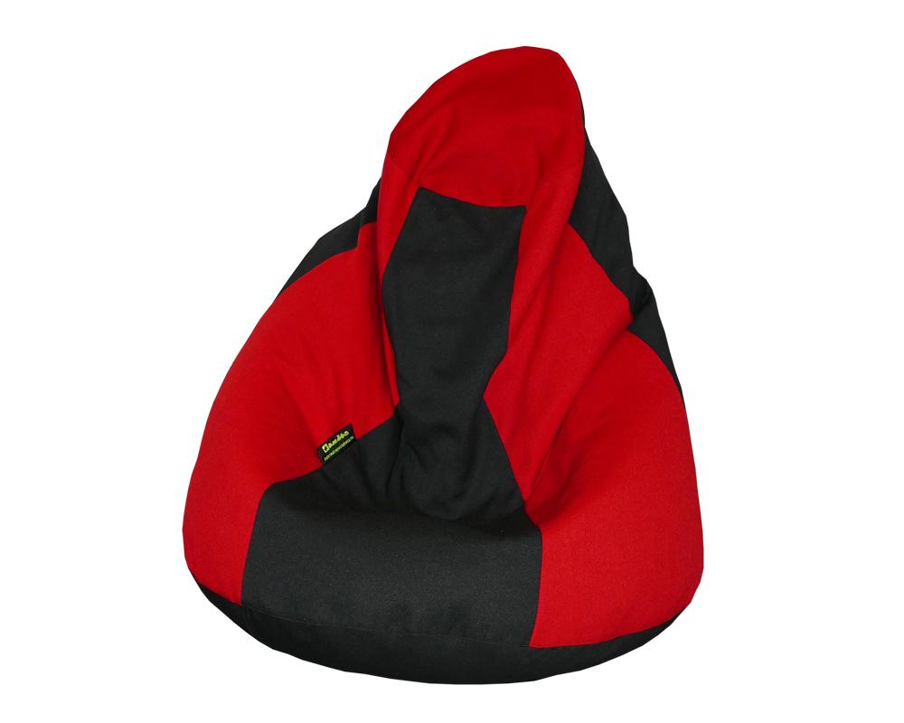 Szundi babzsákfotel gyerekeknek (piros-fekete) készleten