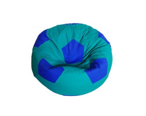 Focilabda babzsákfotel gyerekeknek (zöld-kék) készleten