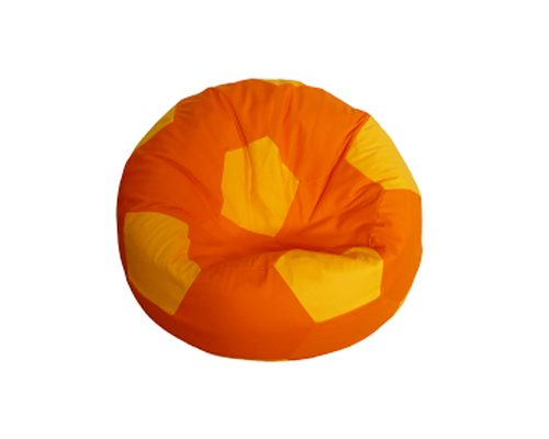 Focilabda babzsákfotel gyerekeknek (narancs-napsárga) készleten
