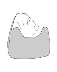 Kis summo babzsákfotel színezhető rajza