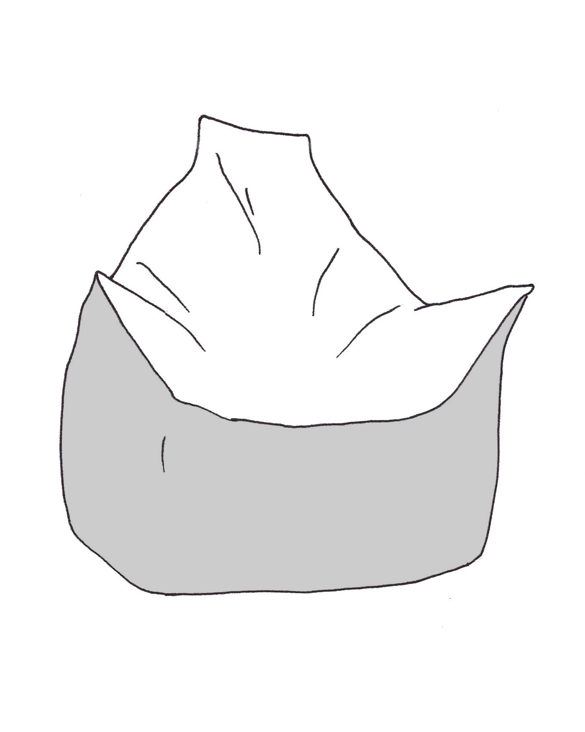 Trapéz solo babzsákfotel színezhető rajza