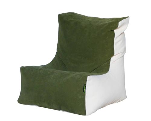 Kanga alacsony babzsák szék (zöld-vajszín) készleten