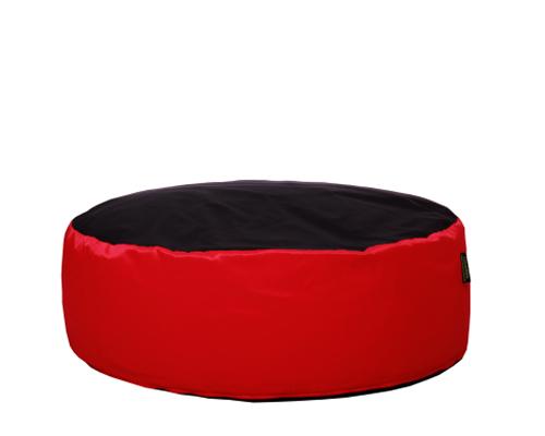 Óriás babzsák puff (piros-fekete, vízlepergető huzattal) készleten