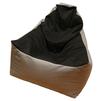 Relax max karfás babzsákfotel (világosszürke-fekete)