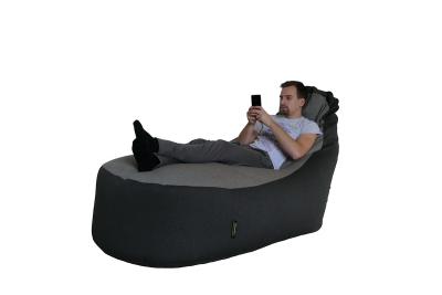 Sofa babzsák ágy (sötétszürke-világosszürke)