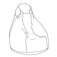 Tini babzsákfotel rajza (saját tervezés)